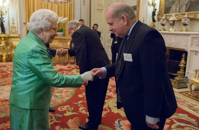 Malcolm Harrison meeting HM Queen Elizabeth 2nd at Buckingham Palace, March 2015